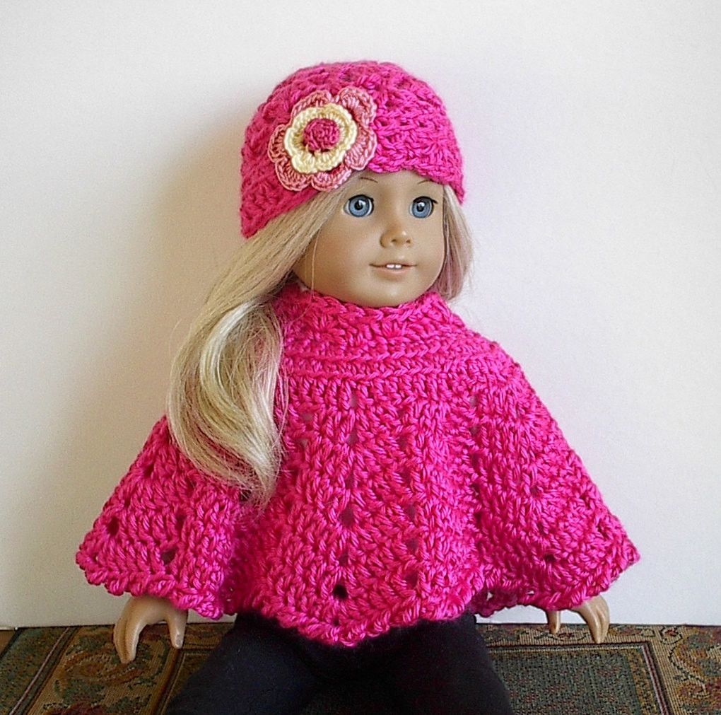Crochet Doll Clothes Awesome American Girl Doll Clothes Crocheted Poncho Set by Of Fresh 48 Images Crochet Doll Clothes