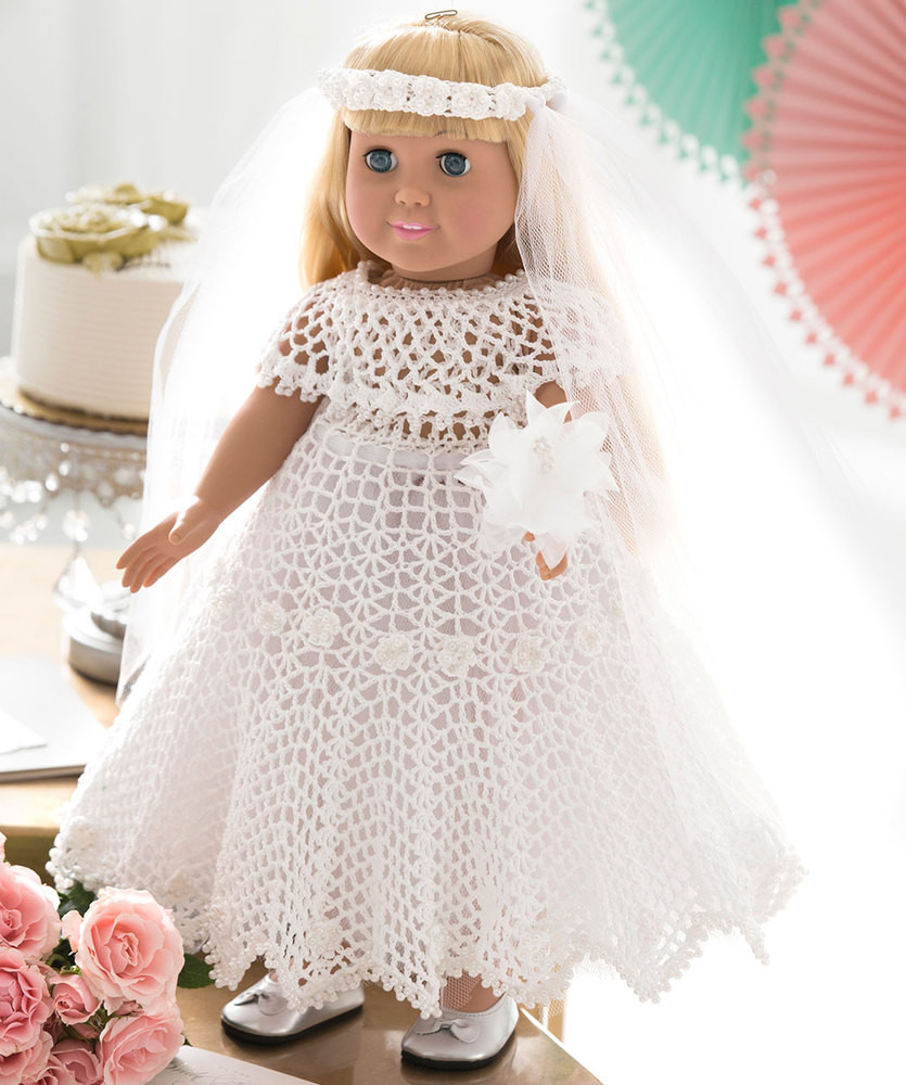 Crochet Doll Clothes Inspirational Crochet Wedding Dress for Doll Free Pattern ⋆ Crochet Kingdom Of Fresh 48 Images Crochet Doll Clothes