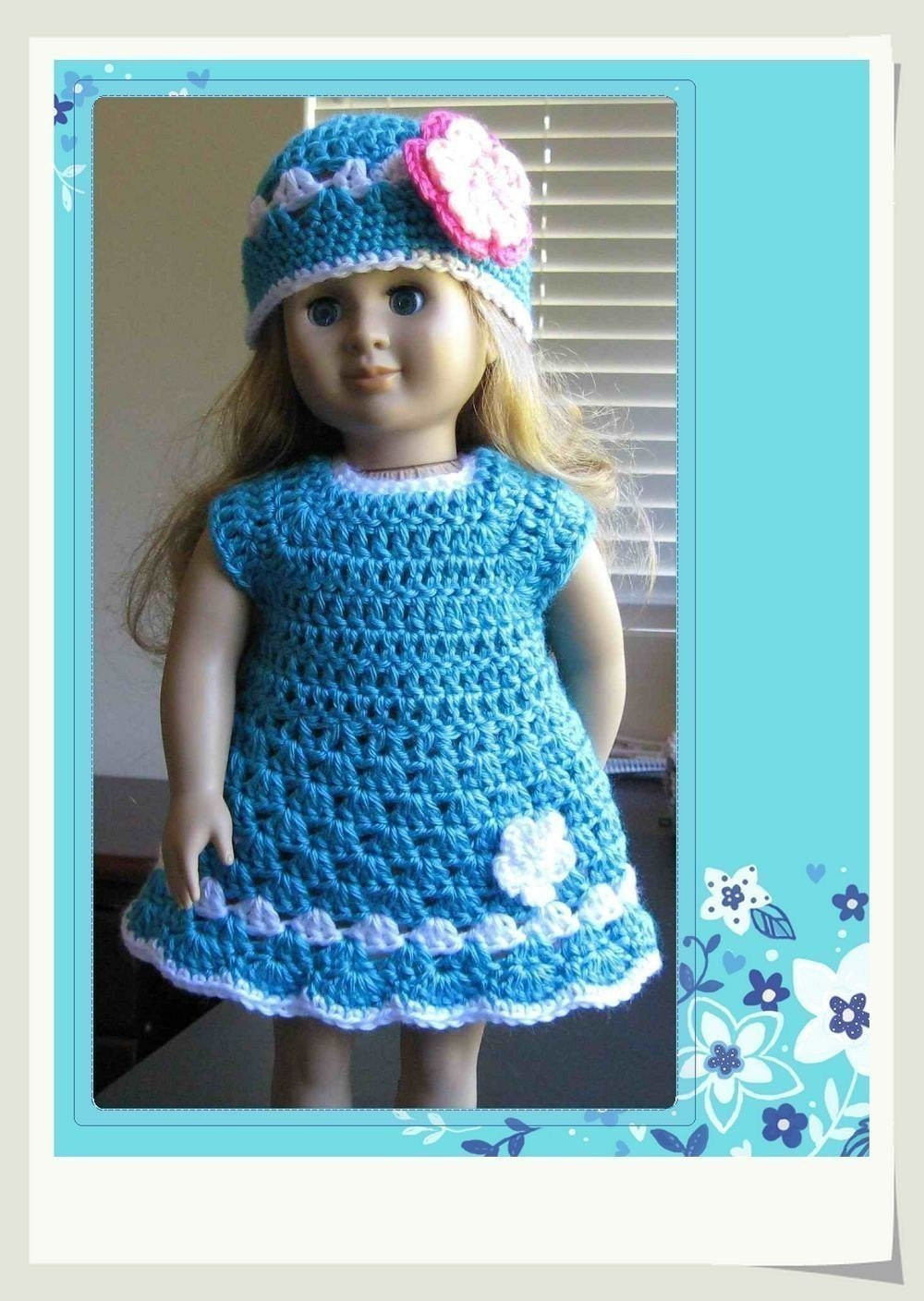 Crochet Doll Clothes Inspirational Pattern Crocheted Doll Clothes Dress for American Girl Gotz Of Fresh 48 Images Crochet Doll Clothes