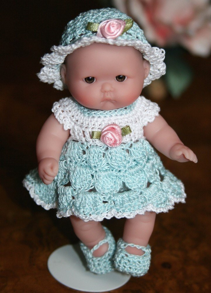 Crochet Doll Clothes Lovely Crochet Baby Doll Clothes Berenguer 5 Inch Baby Shell Dress Of Fresh 48 Images Crochet Doll Clothes