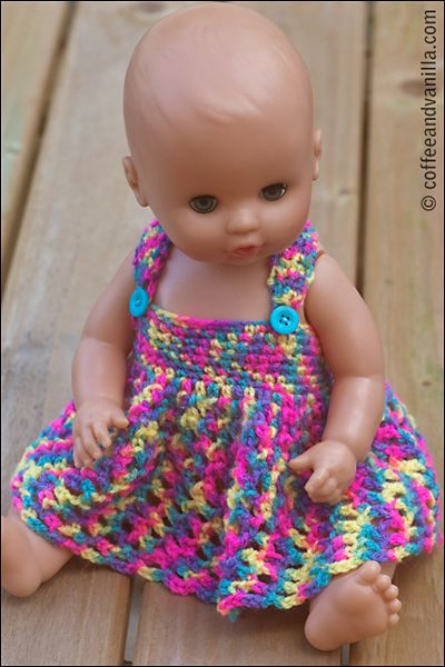 Crochet Doll Clothes New Crochet Doll Dress On Pinterest Of Fresh 48 Images Crochet Doll Clothes
