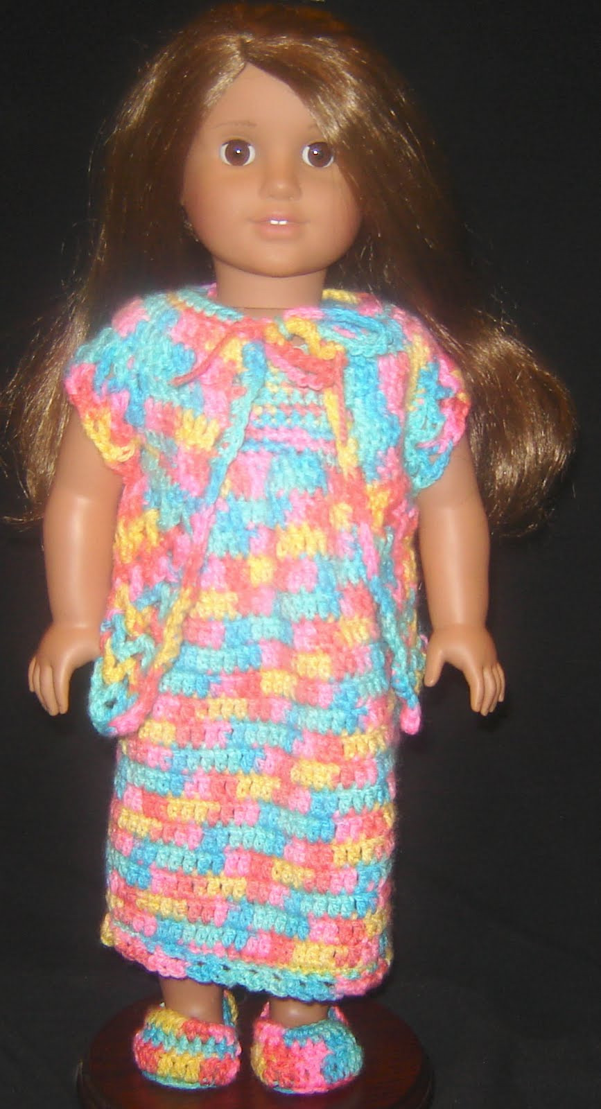"""Crochet Doll Clothes Unique Bizzy Crochet Nightie Robe & Slippers 18"""" Doll Clothes Of Fresh 48 Images Crochet Doll Clothes"""