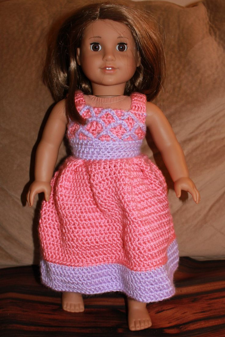 """Crochet Doll Dress Awesome 500 Best Crochet Knit for 18"""" Ag Doll Images On Pinterest Of Unique 43 Pictures Crochet Doll Dress"""