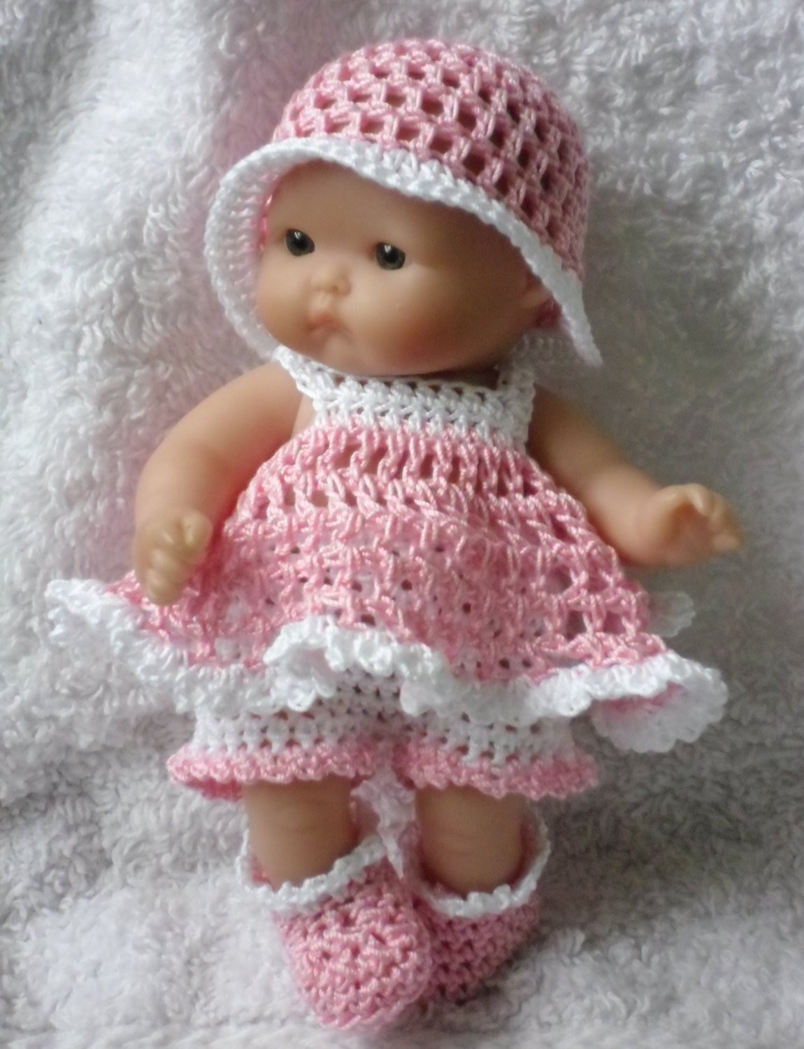 Crochet Doll Dress Awesome Crochet Pattern for Berenguer 5 Inch Baby Doll Dress Of Unique 43 Pictures Crochet Doll Dress