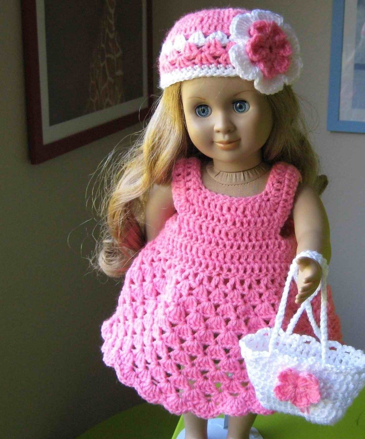 Crochet Doll Dress Awesome Doll Dress Parttern Crocheted Doll Dress for American Girl Of Unique 43 Pictures Crochet Doll Dress