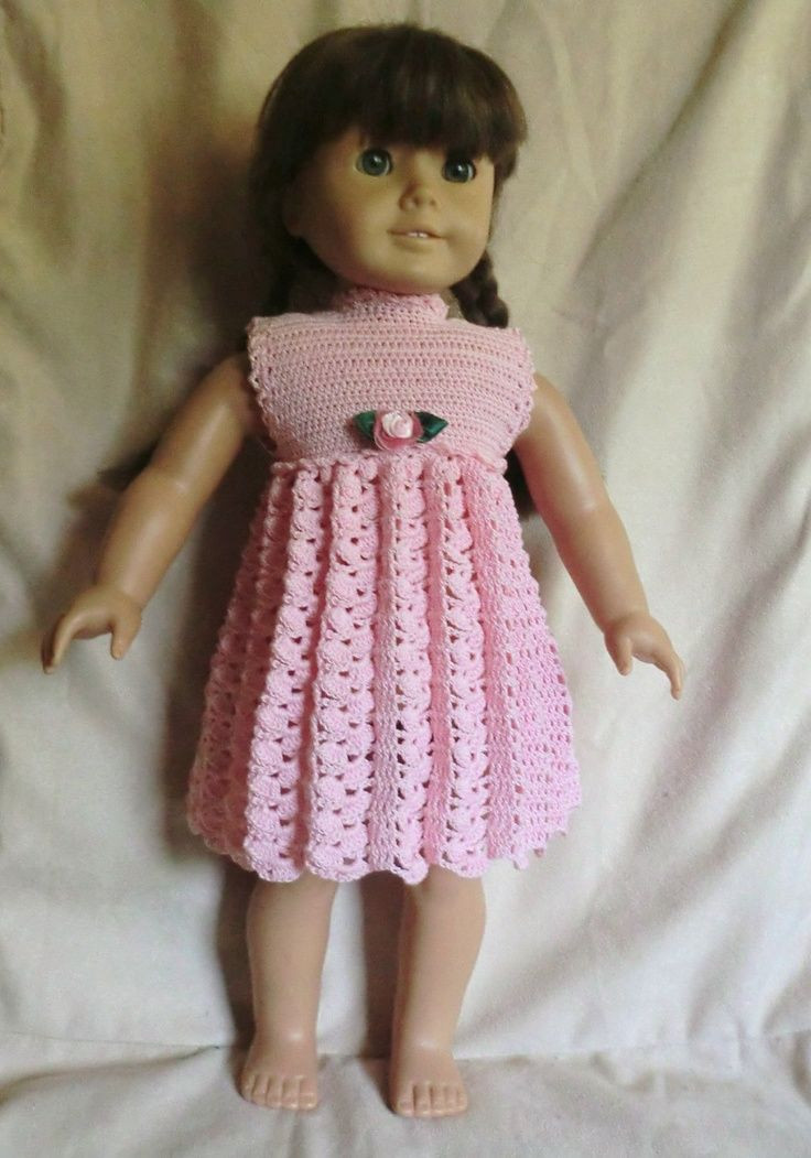 Crochet Doll Dress Inspirational Crochet Pattern 164 Empire Waist for 18 Inch Dolls by Of Unique 43 Pictures Crochet Doll Dress