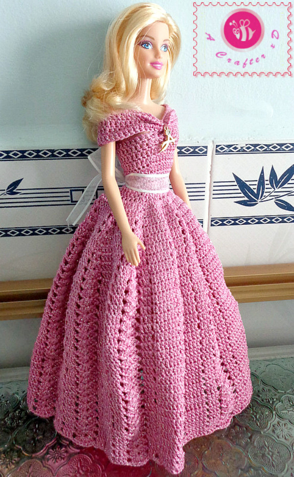 Crochet Doll Dress Lovely Crochet Fashion Doll Off the Shoulder Dress Of Unique 43 Pictures Crochet Doll Dress