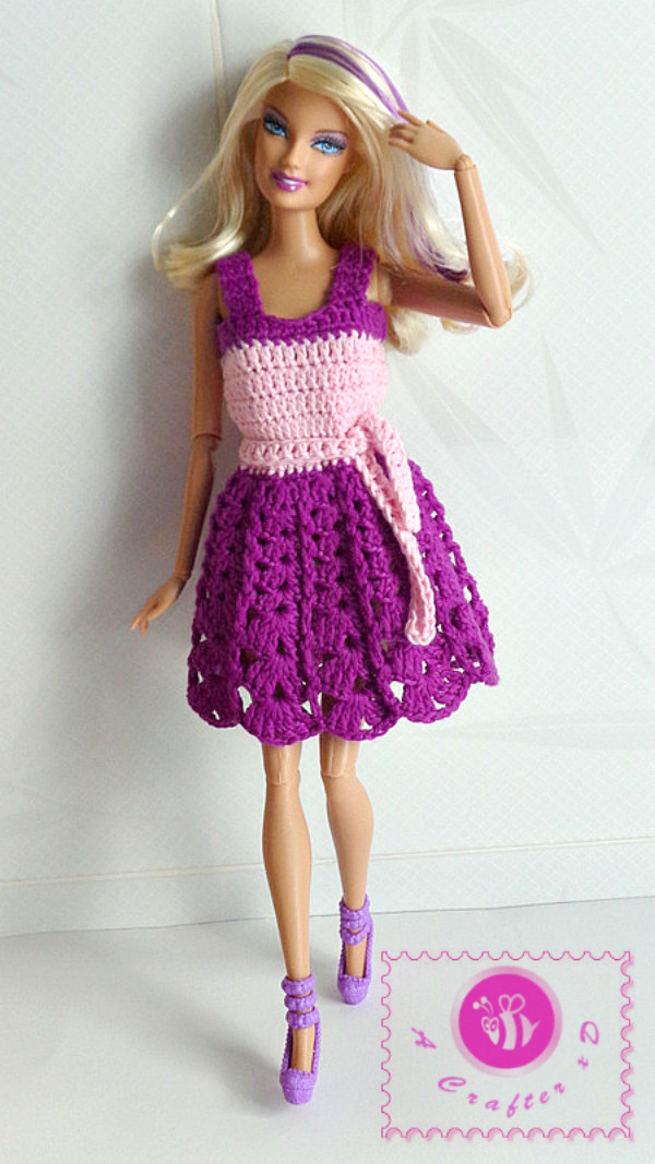 Crochet Doll Dress Luxury Crochet Fashion Doll Tank Dress Be A Crafter Of Unique 43 Pictures Crochet Doll Dress