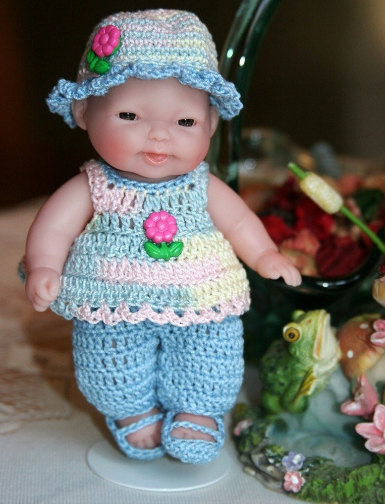 Crochet Doll Dress Luxury Crocheted Outfit for Berenguer 5 Inch Baby Doll Pants Set Of Unique 43 Pictures Crochet Doll Dress