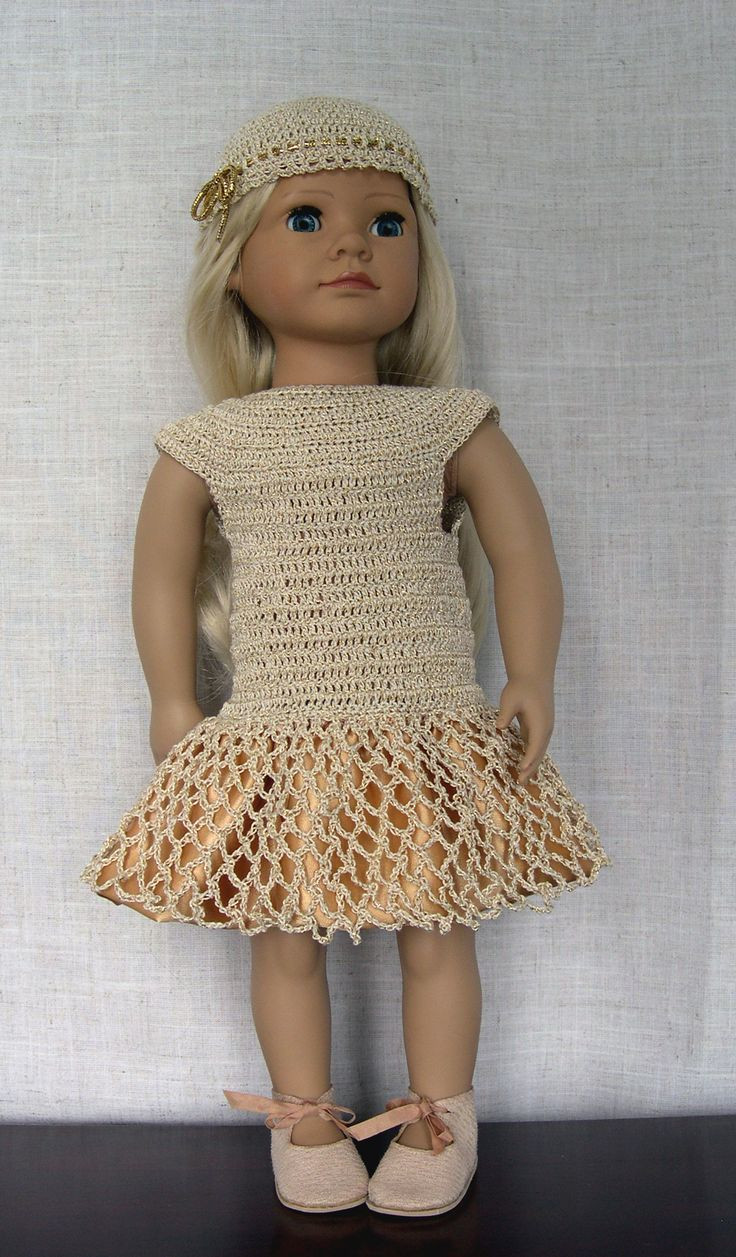 Crochet Doll Dress New 12 Best Images About Crochet Doll Clothes 2 On Pinterest Of Unique 43 Pictures Crochet Doll Dress