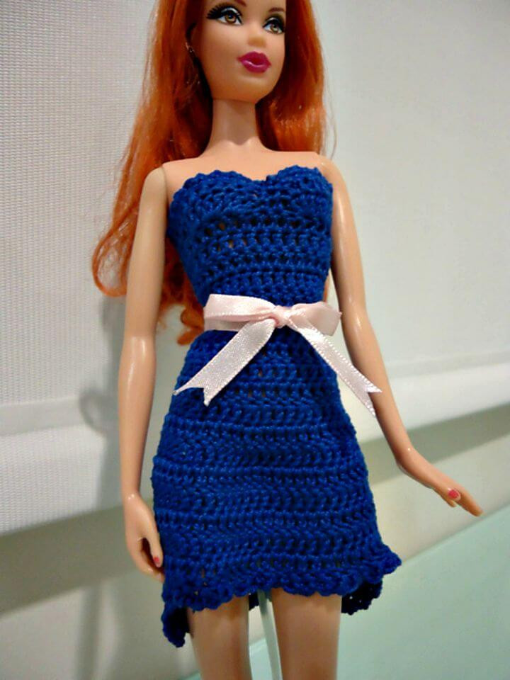 Crochet Doll Dress New 20 Free Crochet Barbie Clothes Pattern Diy & Crafts Of Unique 43 Pictures Crochet Doll Dress