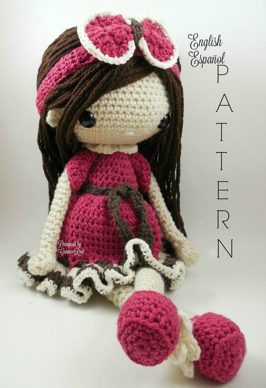 Crochet Doll Patterns Awesome Nathalie Amigurumi Doll Crochet Pattern Pdf From Of Adorable 42 Ideas Crochet Doll Patterns