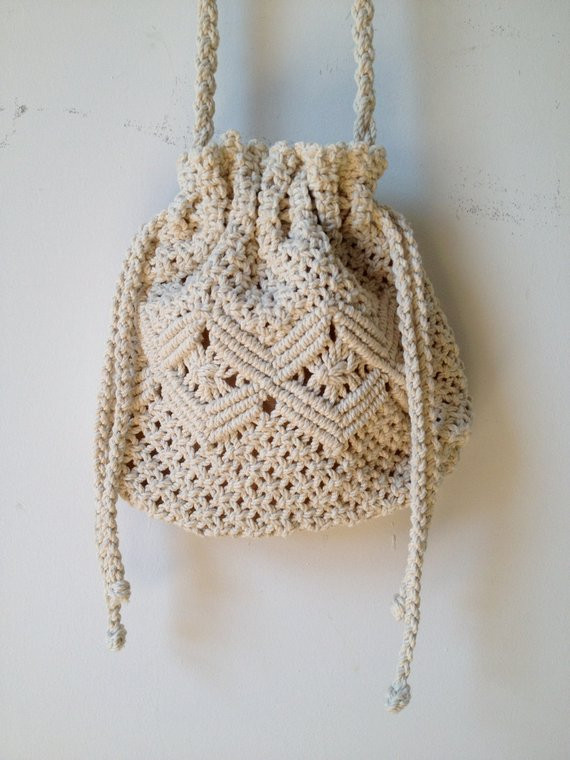 Crochet Draw String Bag Awesome Vintage Crochet Drawstring Cross Body Bag Of Awesome 42 Pictures Crochet Draw String Bag