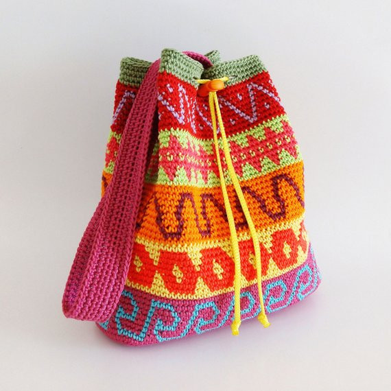 Crochet Draw String Bag Elegant Crochet Pattern for Color Block Drawstring Bag Extra Of Awesome 42 Pictures Crochet Draw String Bag