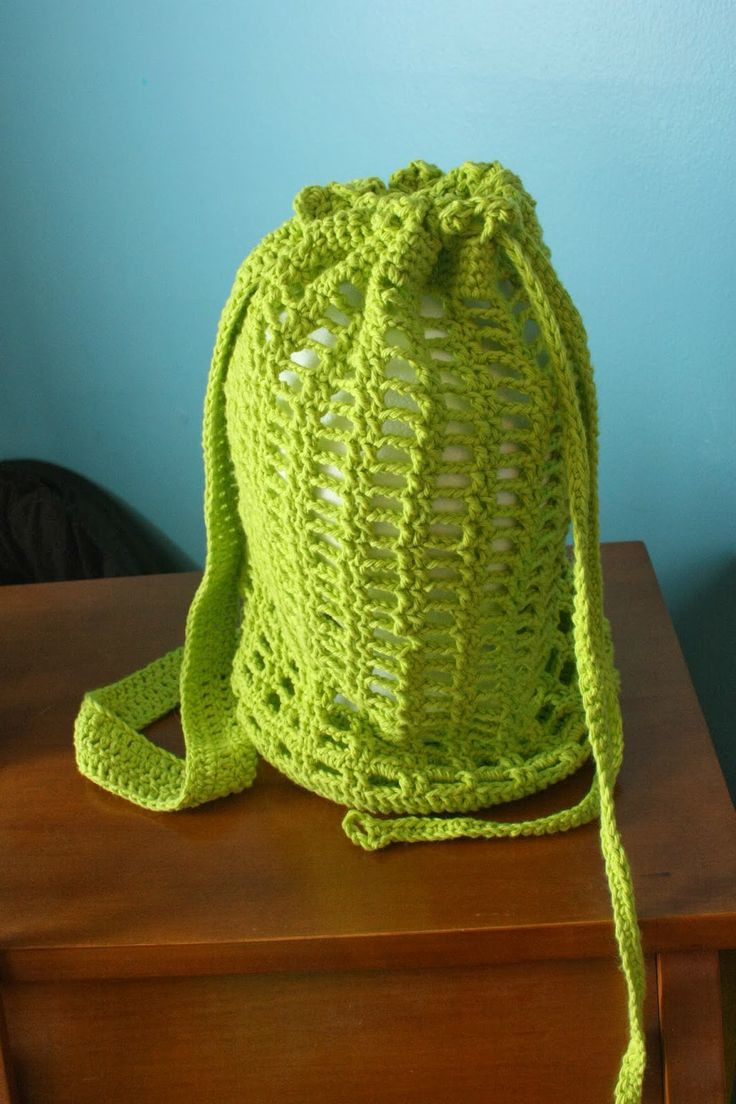 Crochet Draw String Bag Inspirational 1000 Images About ♡ Crochet Drawstring Bags ♡ On Pinterest Of Awesome 42 Pictures Crochet Draw String Bag