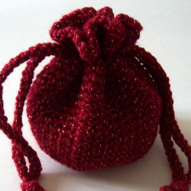 Crochet Draw String Bag Inspirational Crochet Drawstring Bag Red and Gold Pouch Etsy Of Awesome 42 Pictures Crochet Draw String Bag
