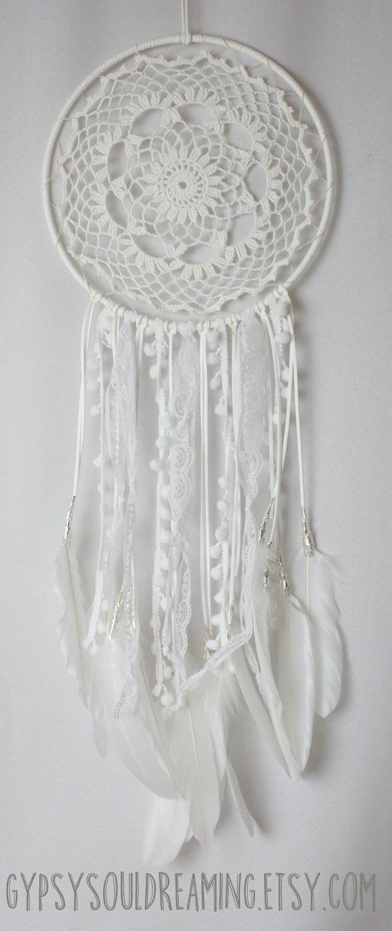 Crochet Dream Catchers Awesome White Crochet Doily Dream Catcher with Lace and Of Attractive 33 Pics Crochet Dream Catchers