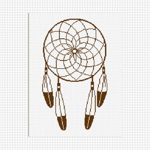 Crochet Dreamcatcher Pattern Awesome Dreamcatcher Feathers Crochet Pattern Graph Afghan Pdf Of Great 44 Models Crochet Dreamcatcher Pattern