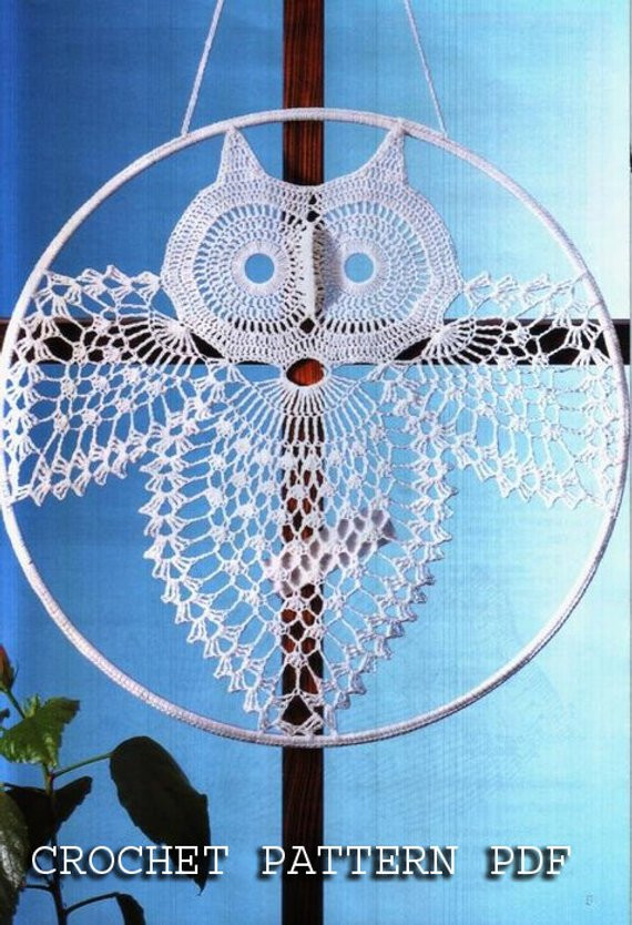 Crochet Dreamcatcher Pattern Free Lovely Crochet Pattern Instruction for Owl Home Decoration In Charts Of Innovative 47 Pictures Crochet Dreamcatcher Pattern Free