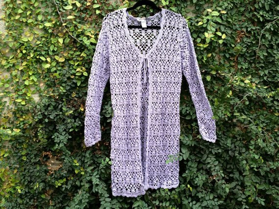 Crochet Dusters Beautiful Lavender Crochet Duster Cardigan by Laukatcouture On Etsy Of Wonderful 46 Photos Crochet Dusters