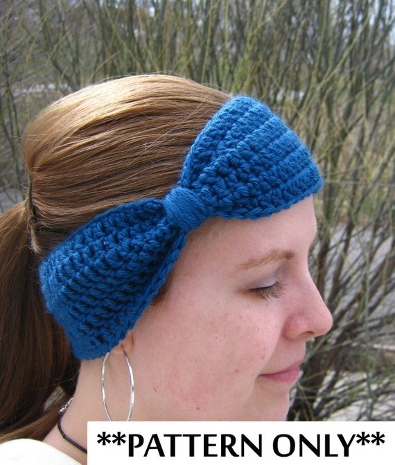 Crochet Ear Warmer Awesome Items Similar to Crochet Pattern for Bow Headband Ear Of Awesome 46 Pictures Crochet Ear Warmer