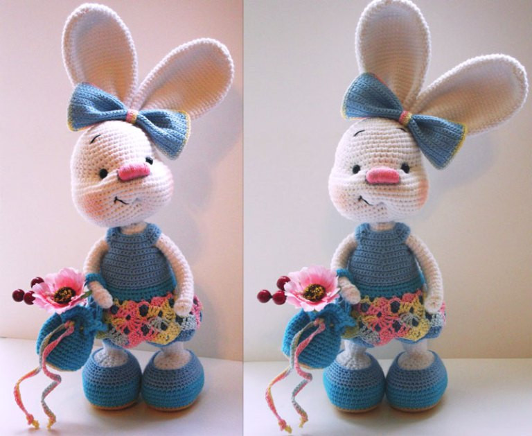 Cute Easter Bunny Crochet FREE Pattern Total Survival