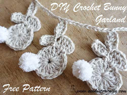 Crochet Easter Bunny Lovely Crochet Easter Bunny Garland Free Pattern Sew Historically Of Gorgeous 42 Photos Crochet Easter Bunny