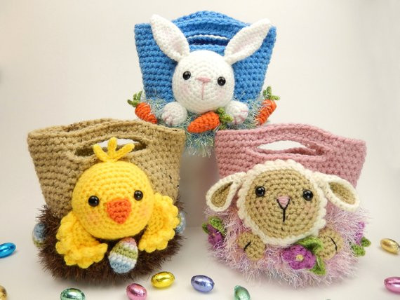 Crochet Easter Bunny Lovely Easter Treat Bags Bunny Chick and Lamb Amigurumi Crochet Of Gorgeous 42 Photos Crochet Easter Bunny