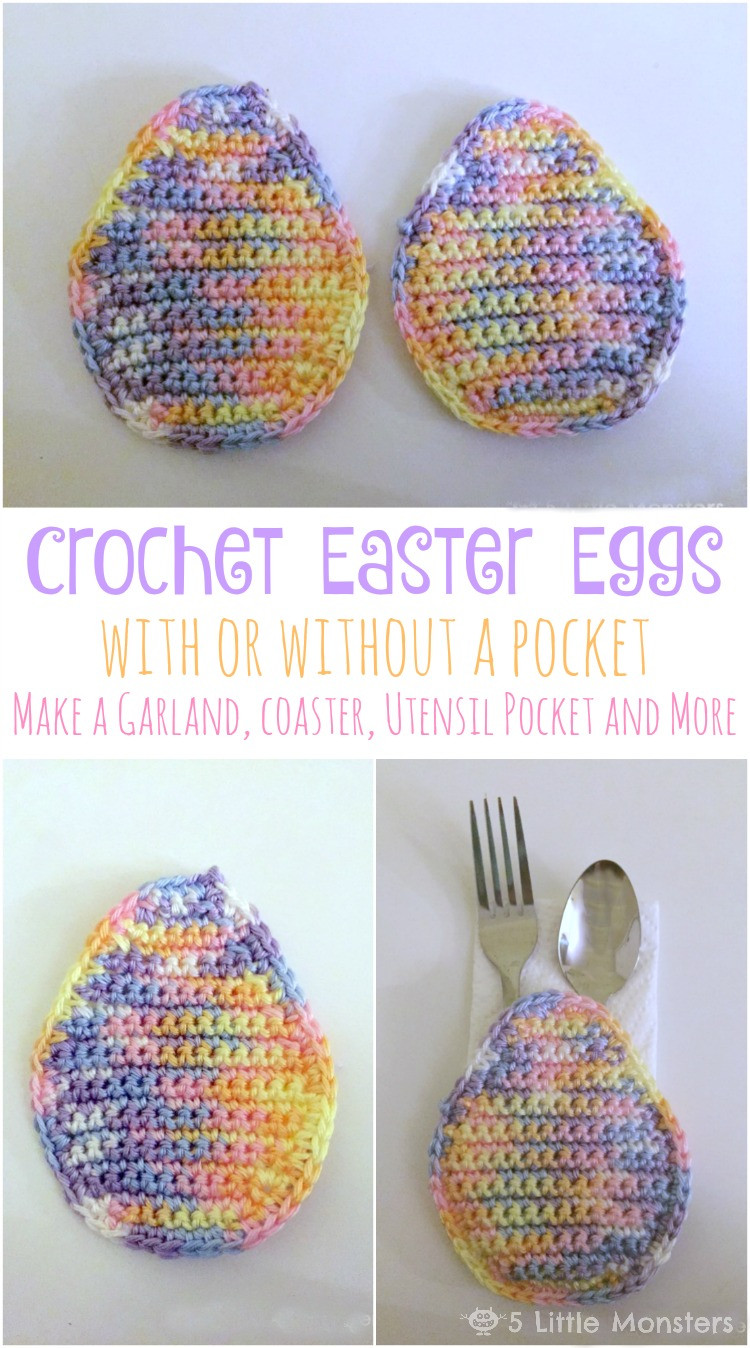 Crochet Easter Eggs Awesome 5 Little Monsters Crocheted Easter Egg with or without A Of Incredible 43 Ideas Crochet Easter Eggs
