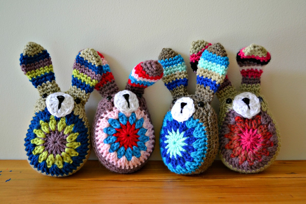 Crochet Easter Bunnies and something new – The Green
