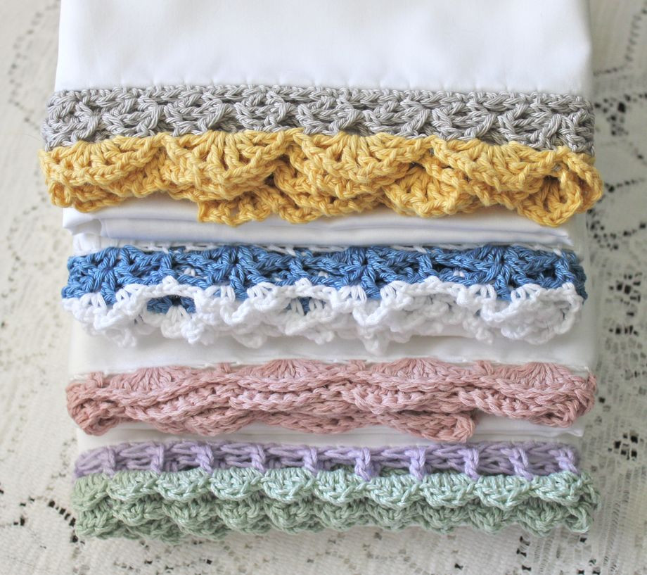 Crochet Edging Fresh Crocheted Edge Pillowcases Of Beautiful 50 Pictures Crochet Edging