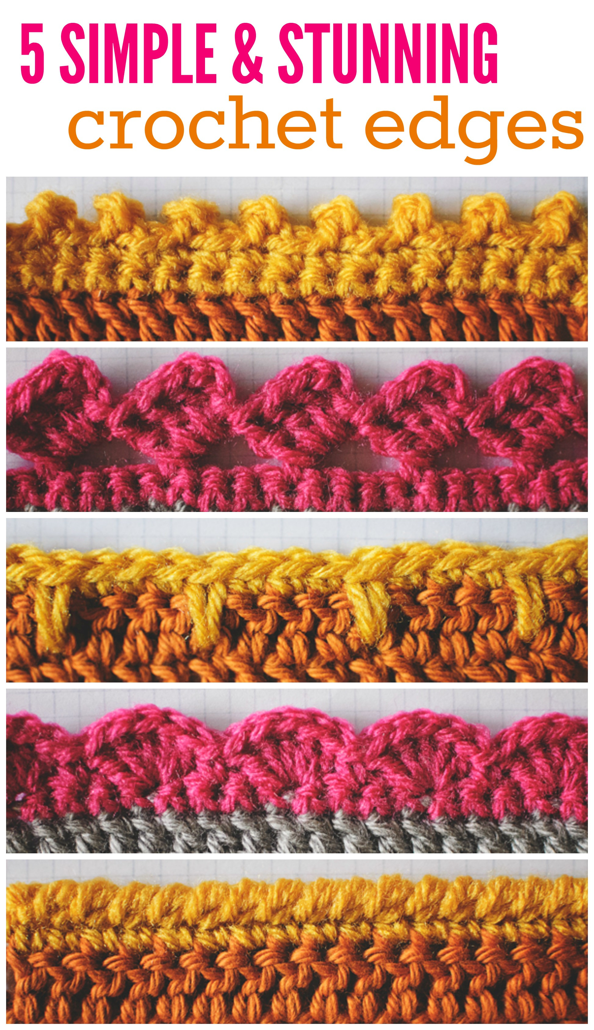 Crochet Edging Inspirational Finishing 5 Crochet Edges You Should Know Of Beautiful 50 Pictures Crochet Edging