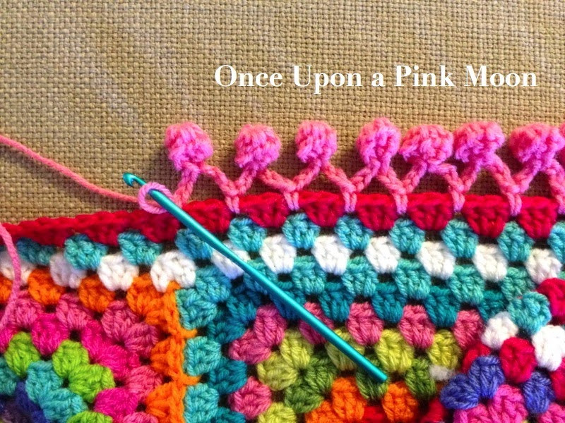 Crochet Edging Lovely Ce Upon A Pink Moon Pom Pom Edge Of Beautiful 50 Pictures Crochet Edging