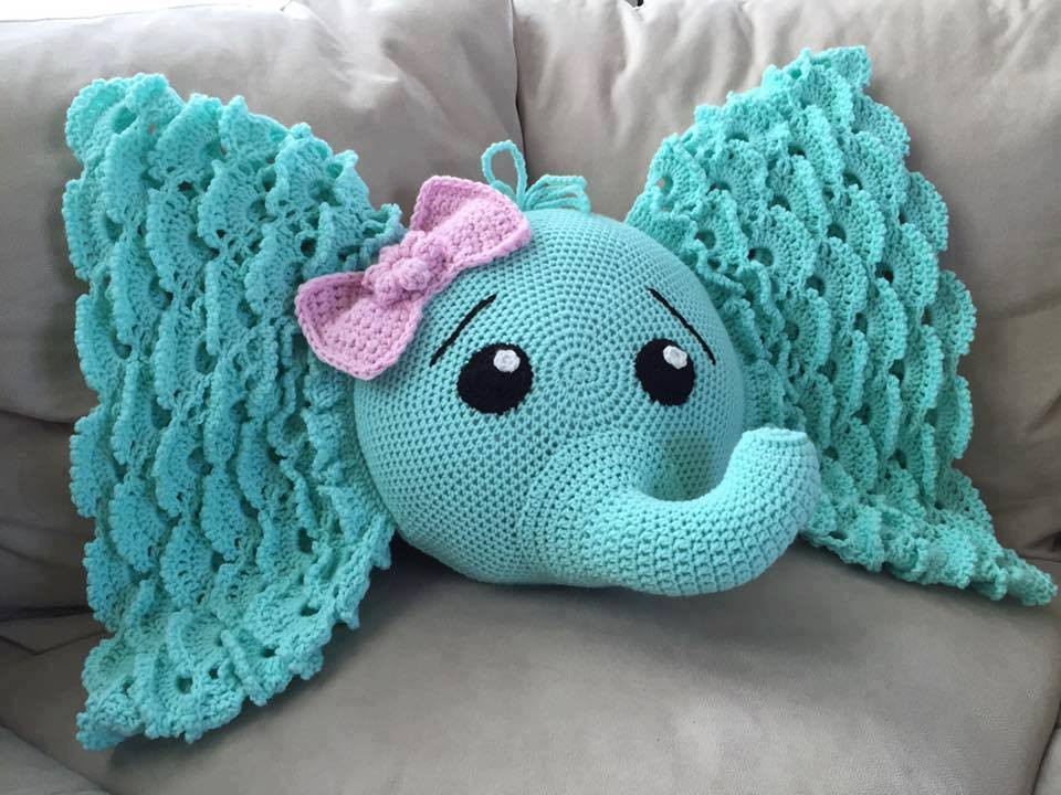 Crochet Elephant Beautiful Crochet Elephant Pillow Of Amazing 49 Models Crochet Elephant