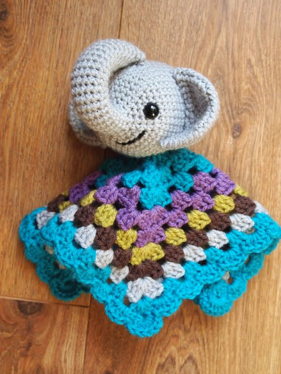 Crochet Elephant Blanket Beautiful Baby Elephant Crochet Security Blanket Lovie Doll Of Awesome 44 Ideas Crochet Elephant Blanket