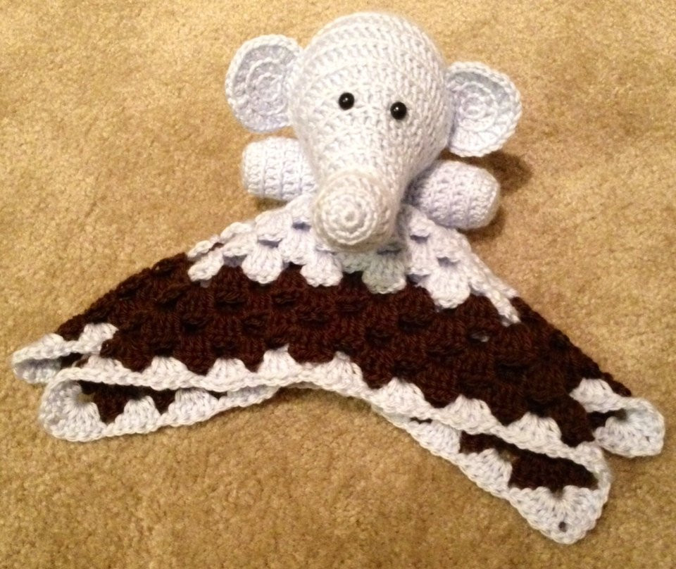 Crochet Elephant Blanket Best Of Crochet Elephant Security Blanket by thestrawberrypurl On Etsy Of Awesome 44 Ideas Crochet Elephant Blanket