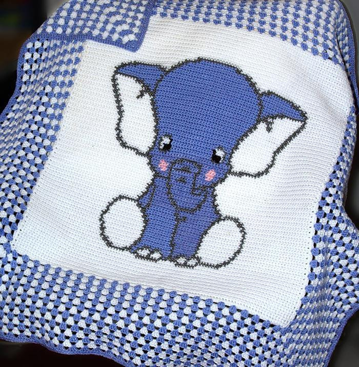 Crochet Elephant Blanket Inspirational You Have to See Blue Elephant Crochet Baby Blanket by Of Awesome 44 Ideas Crochet Elephant Blanket