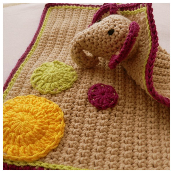 Crochet Elephant Blanket Lovely Crochet Elephant Lovie ⋆ Look at What I Made Of Awesome 44 Ideas Crochet Elephant Blanket