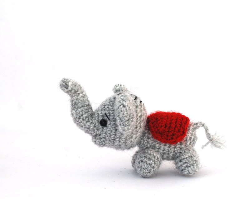 Crochet Elephant Elegant Amigurumi Elephant Tiny Elephant Doll Small toy Little Of Amazing 49 Models Crochet Elephant