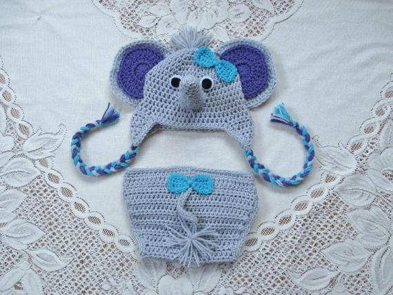 Crochet Elephant Hat New Crochet Baby Elephant Hat and Diaper Cover with or without Of Amazing 45 Photos Crochet Elephant Hat