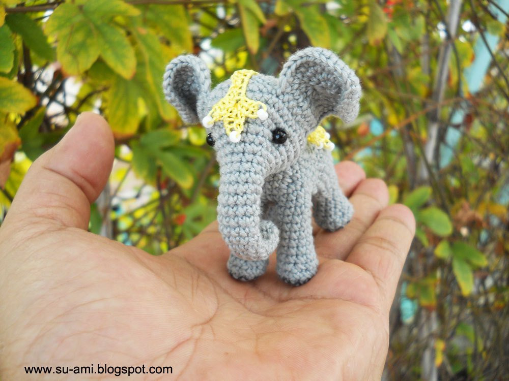 Crochet Elephant Lovely Circus Elephant Miniature Crochet Elephant with Lace Of Amazing 49 Models Crochet Elephant