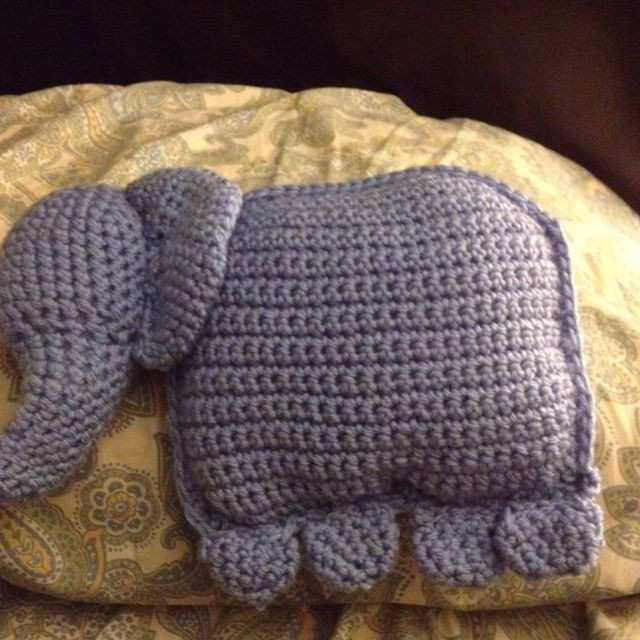 Crochet Elephant Pillow Best Of An Elephant Pillow I Crocheted Of Brilliant 43 Images Crochet Elephant Pillow