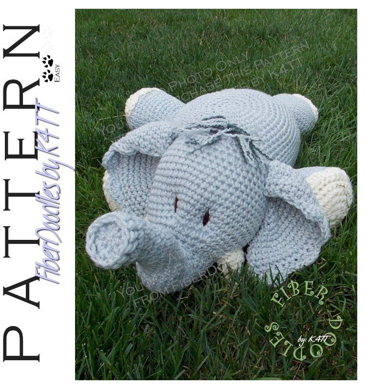 Crochet Elephant Pillow Best Of Instant Download Pillow Pal Elephant Crochet Pattern Of Brilliant 43 Images Crochet Elephant Pillow