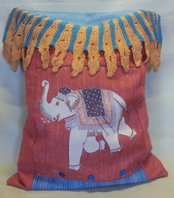Crochet Elephant Pillow Elegant Raju the Elephant Pillow Multiple Fabrics Vintage Crochet Of Brilliant 43 Images Crochet Elephant Pillow