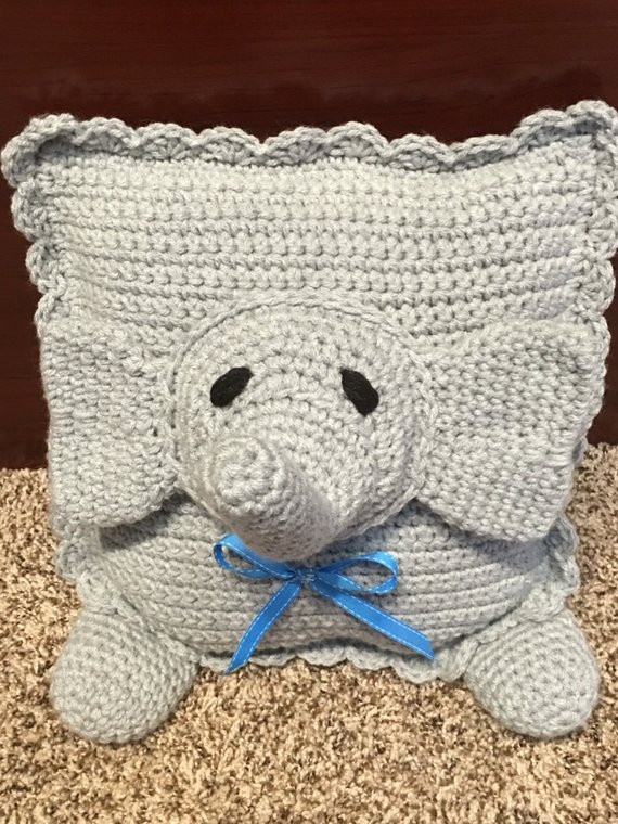 Crochet Elephant Pillow Inspirational Crochet Elephant Pillow Of Brilliant 43 Images Crochet Elephant Pillow