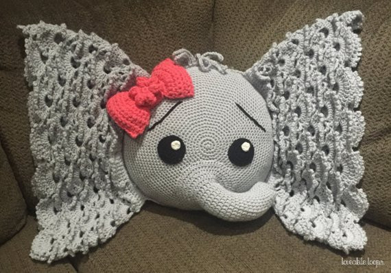 Crochet Elephant Pillow Inspirational Elephant Pillow Crochet Elephant Throw Pillow Josefina the Of Brilliant 43 Images Crochet Elephant Pillow