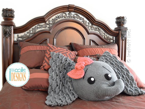 Crochet Elephant Pillow Lovely Crochet Pattern Josefina and Jeffery Elephant Pillow Pdf Of Brilliant 43 Images Crochet Elephant Pillow