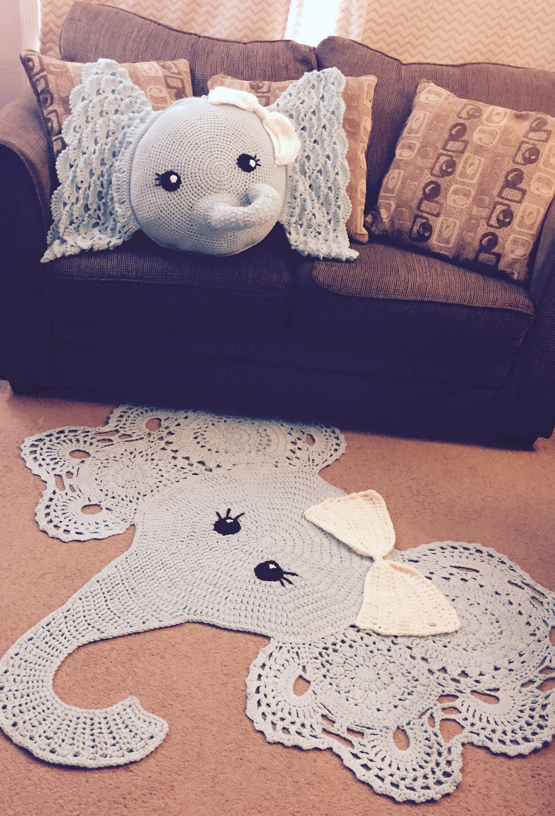 Crochet Elephant Pillow Unique Crochet Elephant Pillow and Rug Pattern Review – Family Of Brilliant 43 Images Crochet Elephant Pillow