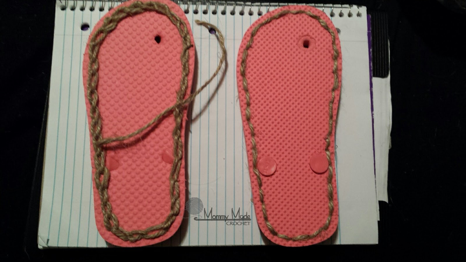 """Crochet Flip Flop Slippers Fresh Mommy Made Crochet How to Make """"flip Flop soles"""" Of Amazing 49 Models Crochet Flip Flop Slippers"""