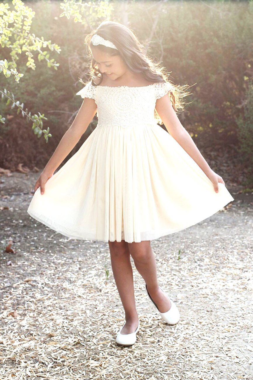 Crochet Flower Girl Dress Awesome Lace Crochet Flower Girl Dress Rustic Ivory Champange Of Contemporary 42 Pics Crochet Flower Girl Dress